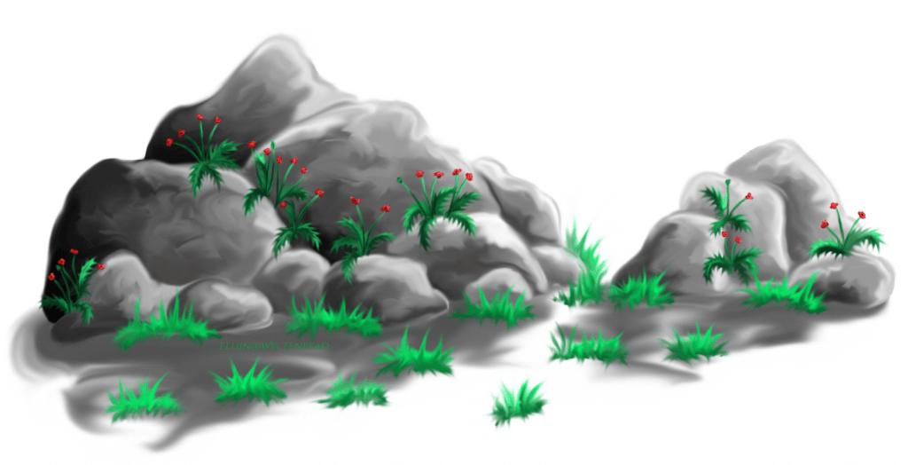 Steine auf dem Lebensweg