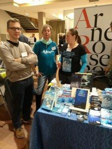 Christiane Landgraf, Brina Stein und Arne Rosenow auf der BuchBerlin 2017