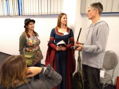 BuchBerlin 2017 Deutschlandradio interviewt die Märchenspinnerei