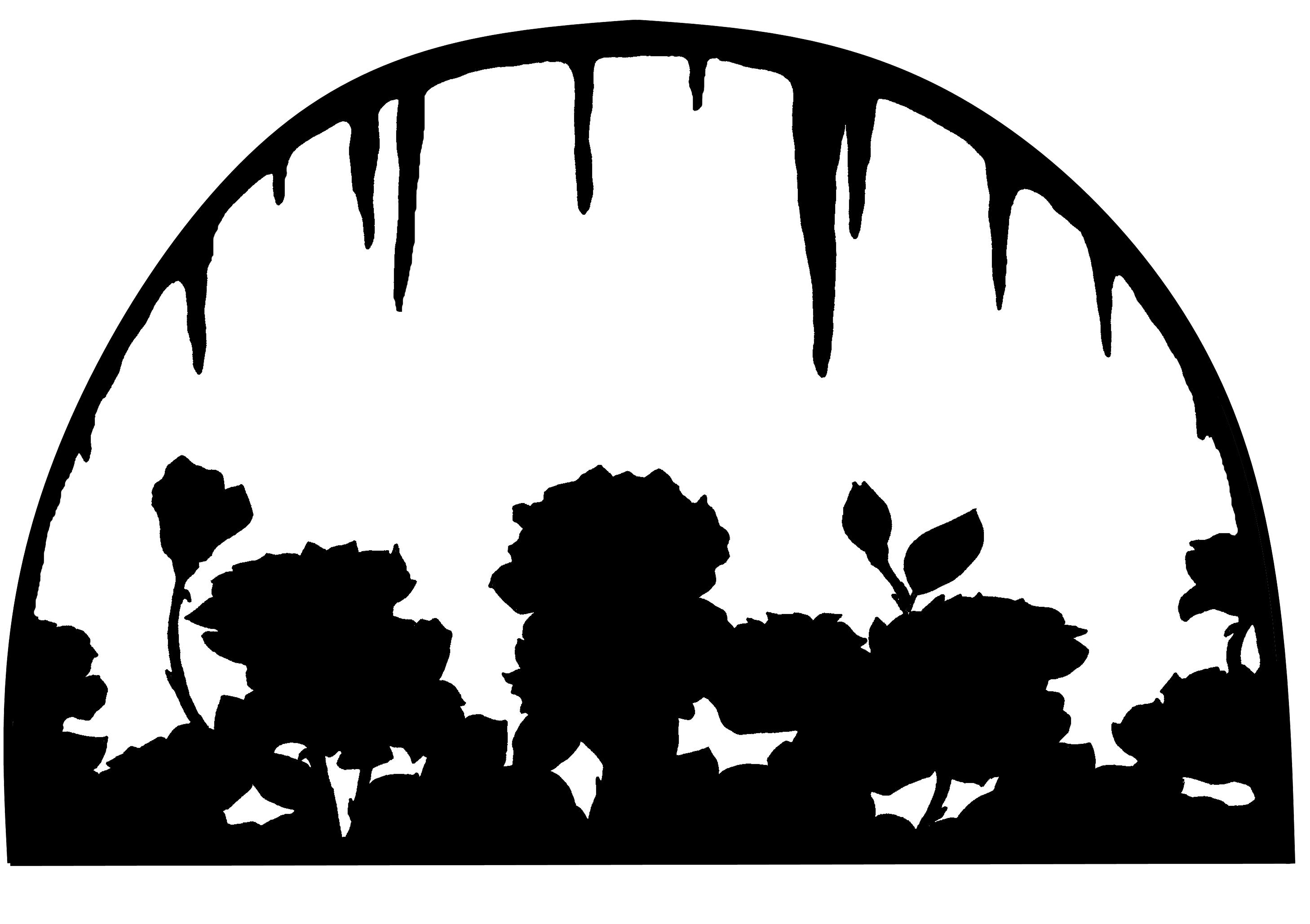 Das Herz der Rosen Scherenschnitt