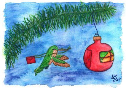 Kolibripost zu Weihnachten - Bild