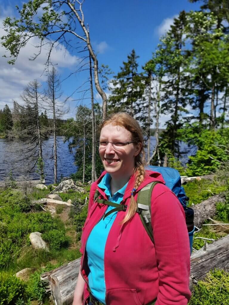Laura Kier nach der Wanderung am Oderteich