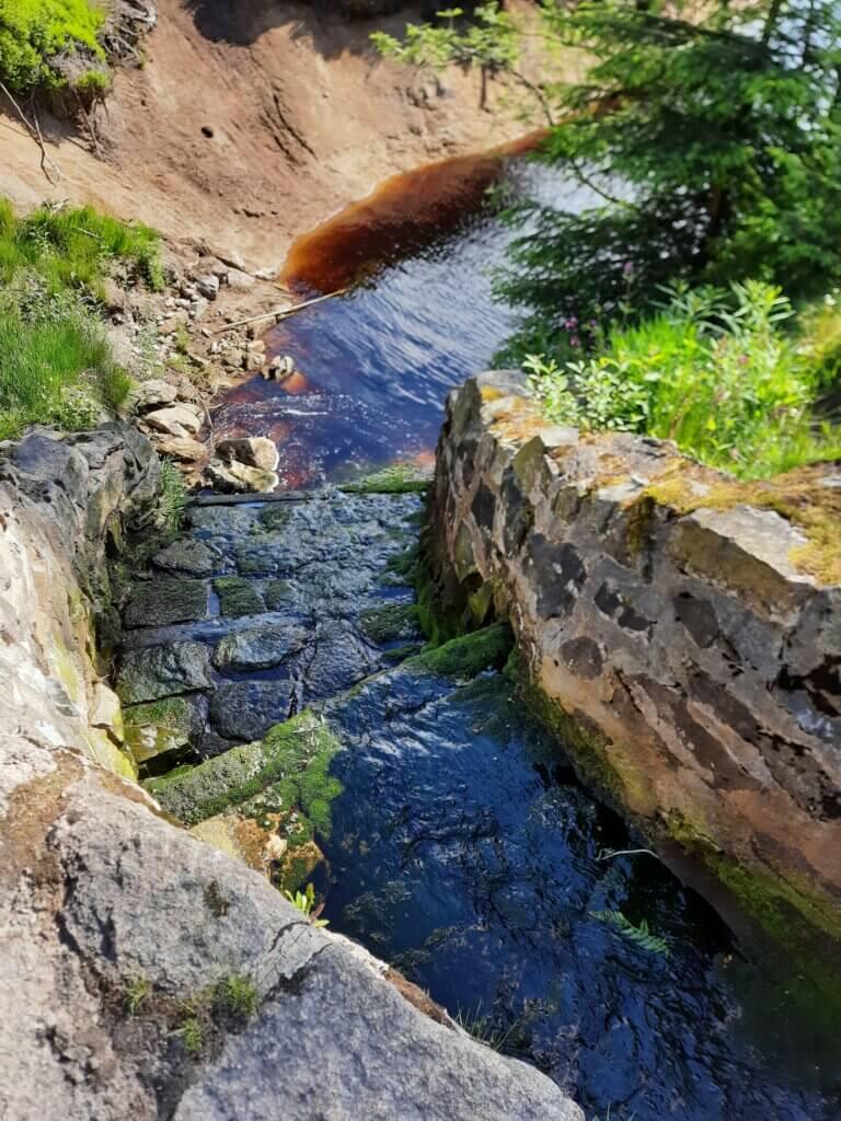 Zufluss zum Oderteich im Harz